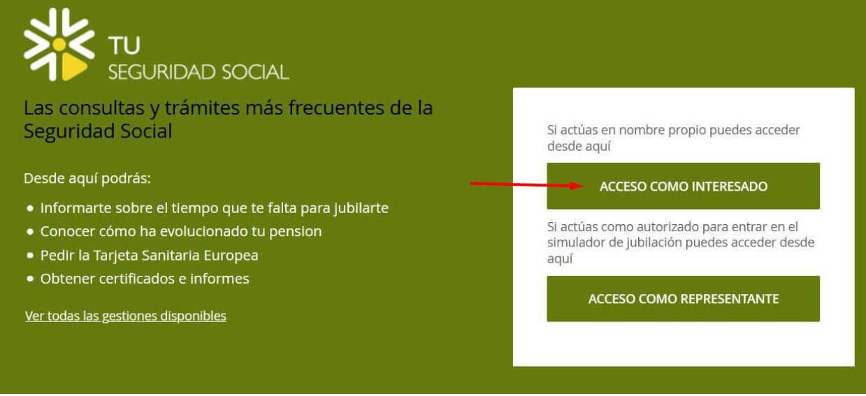 acceder a la web tu seguridad social