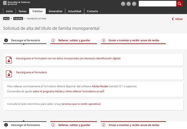 carnet familia monoparental cataluña